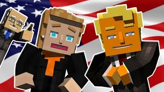 ♪ HILLARY VS TRUMP THE MUSICAL - Minecraft Parody Song