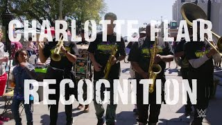 Charlotte Flair's theme played by New Orleans brass band