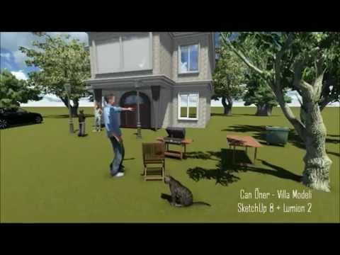 3D Villa Modeli - Can Öner