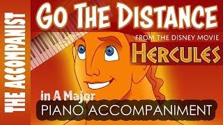 Go The Distance - from the Disney movie 'Hercules' - Piano Accompaniment - Karaoke
