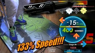Running in the 90s AA FC on 133% SPEED! Heavy/Expert (Stepmania, dance pad)