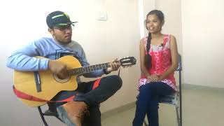 Heartbeat style guitar cover jahan tum ho, kabhi to pass mere aao, chura liya by Sujit and Shrushali