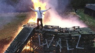 Burning the Wall Of Death width=