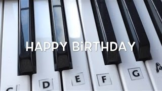 Happy Birthday on the Keyboard / Piano