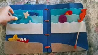 Quietbook libro sensoriale mare pesci