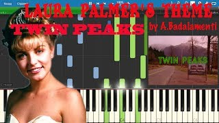 TWIN PEAKS -  LAURA PALMER'S THEME (Piano tutorial,Synthesia) by A.Badalamenti