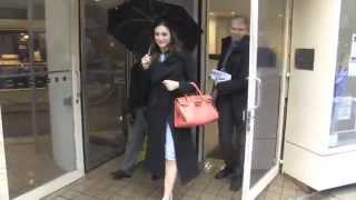 Emmy Rossum At Live! with Kelly & Michael In NYC
