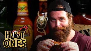 Harley Morenstein Has His Worst Day of 2016 Eating Spicy Wings | Hot Ones width=