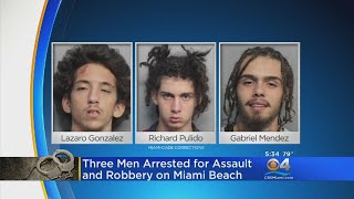 3 Arrested For Armed Robbery Along Miami Beach
