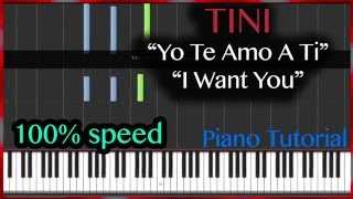 "Tini & Jorge Blanco - ""Yo Te Amo A Ti"" ""I Want You"" Piano Tutorial Cover"