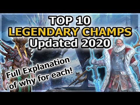 RAID Shadow Legends | TOP 10 LEGENDARY CHAMPS v3.0 | UPDATED 2020