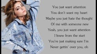 """""""Attention"""" - Charlie Puth (Alex Goot & Jada Facer COVER)(Lyrics)"""