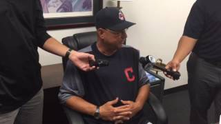 Terry Francona on hitting  Carlos Santana leadoff
