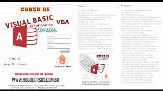 Curso de VBA Access 2013 - Aula 01 - Introdução ao Curso