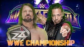 WWE WrestleMania 34: AJ Styles vs Shinsuke Nakamura Official Promo
