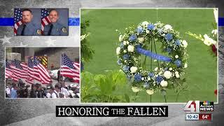Officer Vaughn sings at WyCo deputies' memorial service