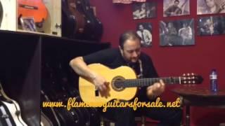 Jesús de Rosario plays the Eladio Fernández 1989 flamenco guitar for sale