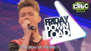 One Direction Story of My Life cover by Harvey on CBBC's Friday Download