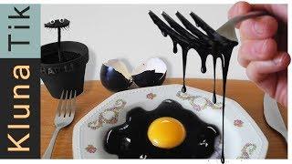 Eating a BLACK EGG!! Kluna Tik Dinner | ASMR eating sounds no talk