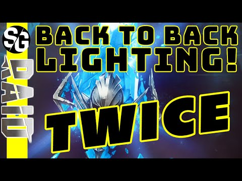 RAID SHADOW LEGENDS | Back to Back Lightning TWICE! Massive summons.