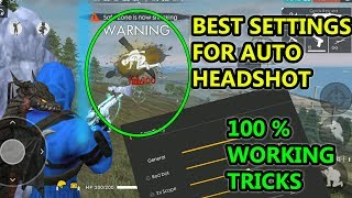 Free fire best settings for auto headshot tricks tamil | Free fire tricks tamil | TGB
