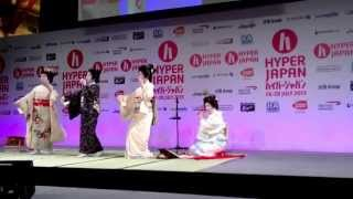Geisha Dance at Hyper Japan 2013 ~ Sayuki and sisters