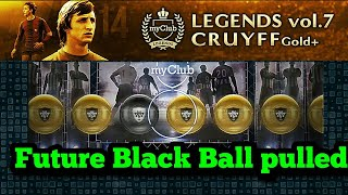 FUTURE BLACK Ball pull in Gold+ Pack Opening pes 18 Mobile