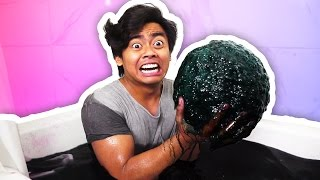 DIY How To Make GIANT BLACK BATH BOMB!