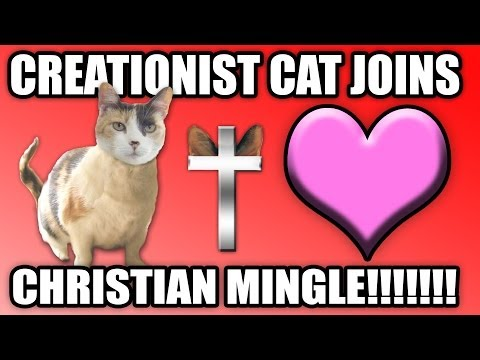 Creationist Cat Joins Christian Mingle!