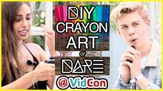 DIY Crayon Art?! | DI-Dare w/ Aidan Alexander & Natalie-Tasha Thompson