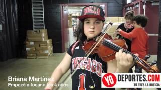 Briana Martinez violnista Chicago Bulls