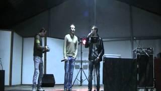 Cantando karaoke com Jotapê