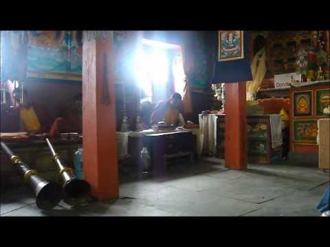 Puja in Buddhist Gompa; Bupsa, Nepal
