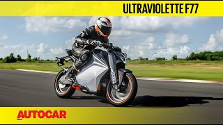 Ultraviolette F77 Electric Bike Review   Track Ride   Autocar India