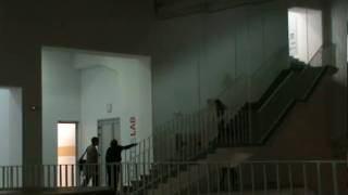 Girl running the stairs.MPG