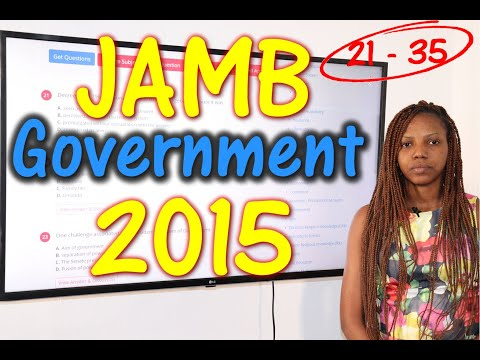JAMB CBT Government 2015 Past Questions 21 - 35