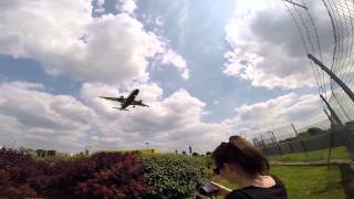 Spotting London Heathrow Runway 27L - GoPro