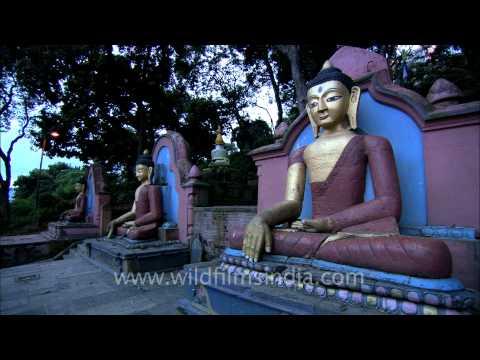 Buddha Statues Swayambhunath Stupa