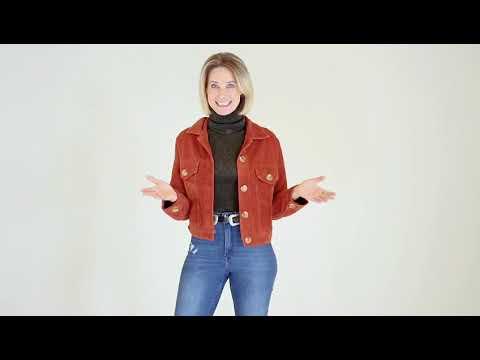 Jaqueta de Veludo Cotelê Rose