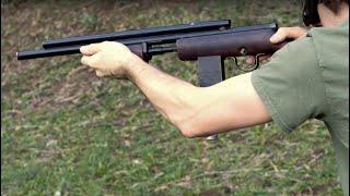 Side Profile - Steve Constable Pursuit Supplies International Gatenby FN-49 Pump .62 Paintball Rifle