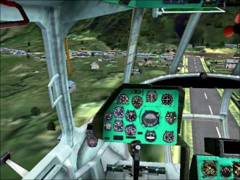 Fs9 Nepal Helicopter MI17 approaching Lukla- Mount Everest.avi