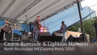Cedric Burnside & Lightnin Malcolm - Old Black Mattie - North Mississippi Hill Country Picnic 2010