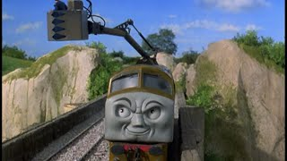 Thomas and the Magic Railroad sound effects: Diesel 10 threatens Mr. C.