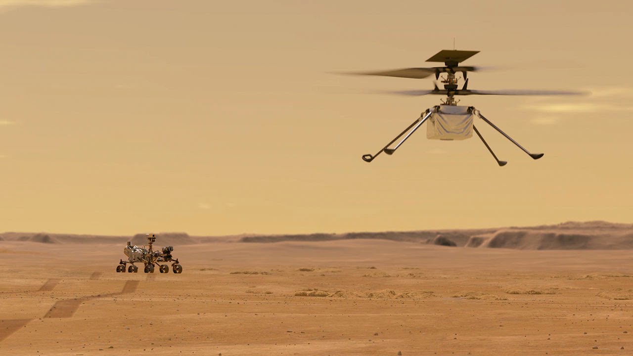 NASA's Ingenuity Mars Helicopter Fifth Flight Lands in New Airfield