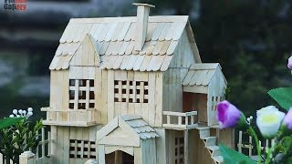 How to Make Popsicle Stick Garden House for Your Child