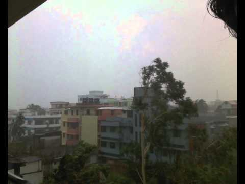 The strom in Chittagong