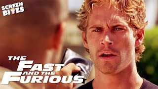 Brian Meets Dom Toretto For The First Time | The Fast And The Furious |  SceneScreen