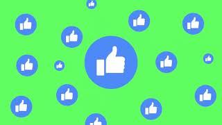 Animação Reação Facebook Curtida - Like Facebook Reaction Animation [Fundo Verde - Chroma Key]