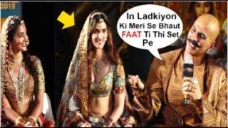 Akshay Kumar Makes FUN Of Actresses Kriti Sanon & Pooja Hedge At Housefull 4 Trailer Launch
