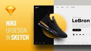 Design Nike Web App UI in Sketch - Speed Art Tutorial